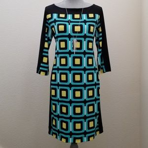 Colorful Banana Republic Career Shift Dress